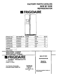 frigidaire side by side refrigerator parts model frszrgb find part by diagram >