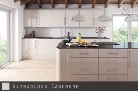 ultra high gloss cashmere kitchen doors