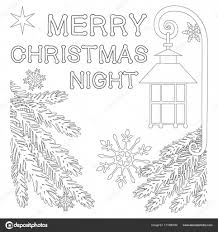 Merry Christmas Nacht Poster Met Eenzame Ster Straat Lantaarn