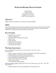 Restaurant Resume Sample Resume For Study Examples Of Restaurant