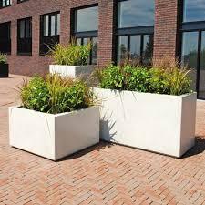 Concrete planter / vertical / square / rectangular - BRICK