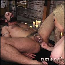 Hard core anal fisting