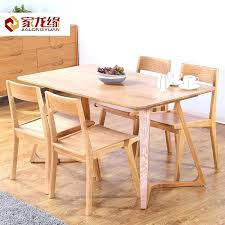 white oak dining table get ations a home long edge minimalist style dining table solid wood