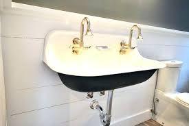 spacious farmhouse bathroom sink kohler farm double large size of