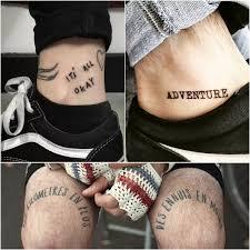 тату надписи на ноге мужские с переводом тату