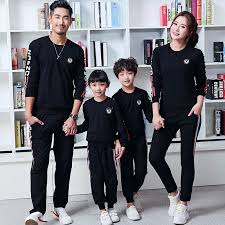 Pants Shirt Us 10 38 20 Off Sporting Clothing For Family Matching Outfits Black Couple Matching Clothes Top Shirts Pants Leggings Like Father And Son Shirts In