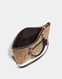 Women s Coach Bags – prairie satchel in signature jacquard Light Gold Khaki