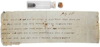 the history blog blog archive civil war message decoded help  civil war bottle coded message and bullet