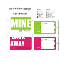 50 Personalized Luggage Tag Templates Template Archive