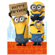 Happy Birthday Sign Minions Card Minion Shop