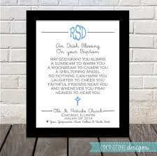 baptismal irish blessing pa gift by cocostinedesigns 15 00