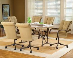 Furniture Cream Velvet Dining Room Chairs With Casters And - Dining room chairs with arms
