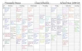 School Calendar Pineapple Dance Studio Amherst Ma
