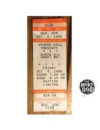 Buddy Guy 1996 Used Ticket Stub Gruene Hall Mojohand