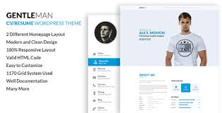 Gentleman Vcard Cv Resume Wordpress Theme Download And Free
