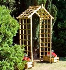 Small Picture 22 best Wooden Arches images on Pinterest Garden arches Wooden