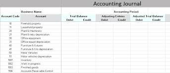 Excel Spreadsheets For Business An Accounting Journal Is An