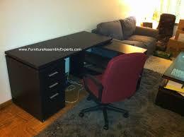 walmart office desk furniture. Walmart Hollow-Core L-Shaped Computer Desk Assembled In Alexandria Va By Furniture Assembly Office
