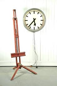 large vintage train station clock clocks double sided outdoor 2 thermometer