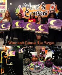 i met up with some of the vegas lifestyle influencers las on october 10 2017 for the drink paint be scary event at wine and canvas las vegas