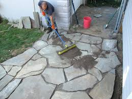 the hour flagstone patio laying flagstone patio over concrete