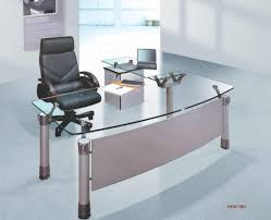 Furniture Glass Home Office Desk Contemporary Glass Desks Home