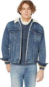 Levis Mens Mens Type Iii Sherpa Trucker Jacket Mays Medium