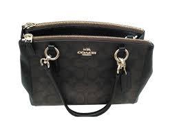 coach handbags handbags leather dark brown ref 109828