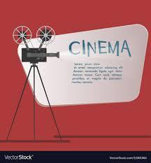 Cinema Background Or Banner Movie Flyer Or Ticket