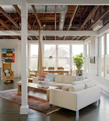 open ceiling lighting. Open Ceiling Lighting With Industrial Floor Lamps Living Room And