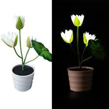 Flower Pot Light Us 10 31 27 Off 2018 New Arrival Led Flower Pot Light Solar Lotus Flower Lights 2 Led Artificial Lily Pot Flower Bonsai Led Bonsai Lamp In Solar