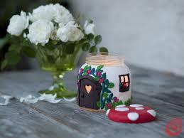 Casette Per Bambini Fai Da Te : Foto fai da te candela casetta o fungo l idea per un regalo