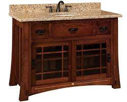 Portland 49 Single Bathroom Vanity Cabinet From Dutchcrafters Amish