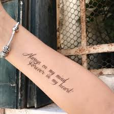 Temporary Tattoo Buy Always On My Mind Black And White