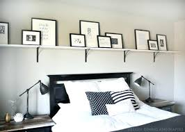 black and white typography above bed shelf floating bath beyond installing a decorative