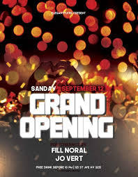 Event Flyers Free Grand Opening Event Party Free Flyer Template Download