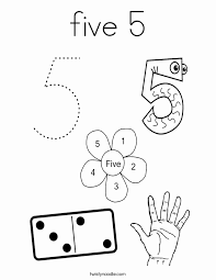 Students will enjoy learning single digit numbers with this creative coloring activity! Number 5 Coloring Sheet Luxury Get This Number 5 Coloring Page 5hd51 Meriwer Coloring