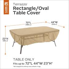 terrazzo rectangularoval patio table cover all weather protection outdoor furniture classic accessories patio furniture covers98 patio