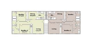 Cool Ideas Building Plans For Townhouses 6 Home Floor  Home ACT12 Unit Apartment Building Plans