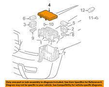 lexus gx other lexus toyota oem 05 09 gx470 4 7l v8 fuse relay box upper cover 8266260352 fits lexus gx470