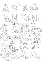 Small Picture Alphabet Coloring Pages Animals Coloring Pages