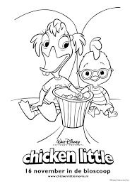 Kleurplaat Chicken Little In De Bioscoop Kleurplatennl