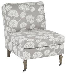 madrid accent chair with toile stems light gray and um gray