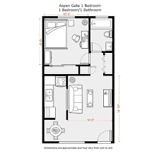 Captivating 1 Bedroom Apartment Floor Plans 500 Sf | DU Apartments   Floor Plans U0026  Rates