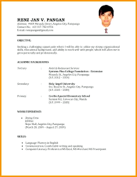 Basic Resume Template For First Job Also Resume Examples For Jobs
