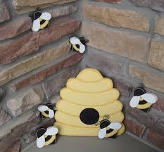bee hive and bees for home decor bee themed decor and girl