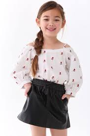 girls faux leather skirt kids