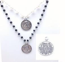 guardian angel prayer disc on pearl or