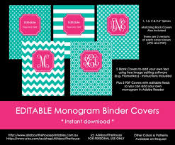 Free Editable Binder Covers And Spines Monogram Planner Cover Binder Cover Spine Editable Printable