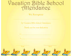 Vbs Certificate Template Vacation Bible School Attendance Certificate Printable